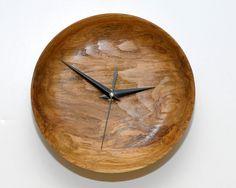 Wall Clock of Amazing Red Oak Burl Wood. $70.00, via Etsy.