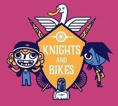 I'm so excited for Foam Sword's Knights and Bikes game on Kickstarter! We're doing cross promo so I made some art for them. I highly recommend you check the project out - it has a lot of charm! by kevinjaystanton