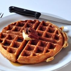 Butter Pecan Waffles by TheCreeksideCook