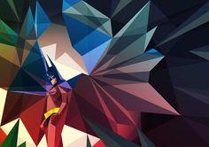 Geometric illustrations by Liam Brazier