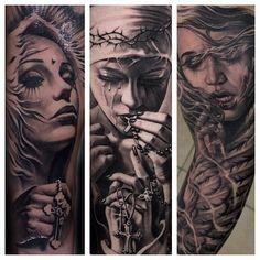 Amazing artist Ivano Natale tattoo collage 2.