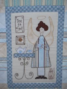 ANNI DOWNS Embroidery Applique, Cross Stitch Embroidery, Fabric Art, Fabric Crafts, Pattern Blocks, Quilt Patterns, Hatch Patch, Annie Downs, Angel Stories