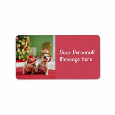 christmas puppies photography custom address labels by hallmarkholidays Christmas Return Address Labels, Christmas Puppy, Custom Address Labels, Training Your Dog, Beautiful Christmas, Puppies, Messages, Pets, Photography