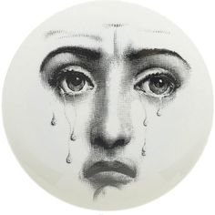 Theme & Variations Decorative Plate #77 (Crying Face) - Fornasetti - - Surrealism