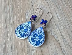 White and Blue by Mon Joli Bois on Etsy