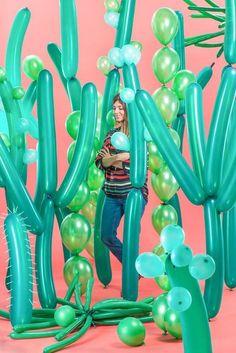 DIY Cacti Balloons:  20 Creative Balloon DIYs to Rock at Your Summer Party via Brit + Co