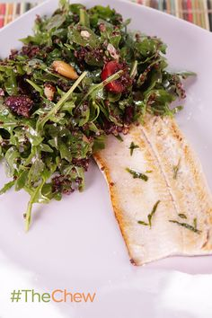 This seared trout and cherry quinoa salad makes for a great light & fresh lunch or dinner!