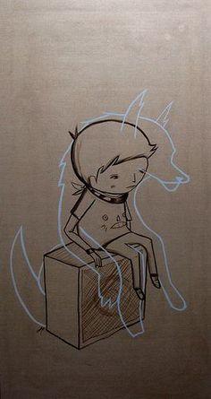 Wolvien (light shard) by ghostpatrol, via Flickr #illustration
