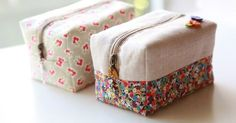 Block Zipper Pouch Tutorial ~ DIY Tutorial Ideas!
