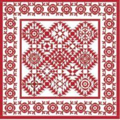 2016: Simply Red Quilt BOM/Pine Valley Quilts