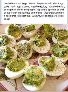 Deviled Avocado Eggs