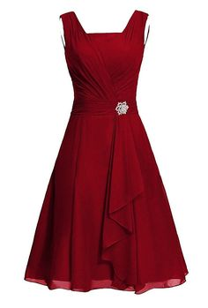 Awesome US Women's Short Bridesmaid Dress Square Chiffon Mother Party Dress with Sash 2018
