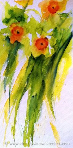 Daffodils Delight | Chris Blevins Watercolors - Artist in Richland, Pasco, Kennewick, WA