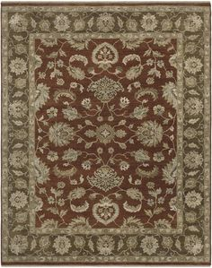 Rojas Design Red Hand-Knotted Area Rug