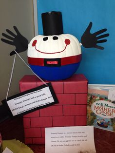 Humpty Dumpty pumpkin book report