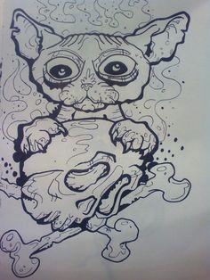"""""""Shpynx cat tattoo"""" (2016) Adoro este tipo de dibujo y con """"admcde"""" se aprende bastante de este estilo."""