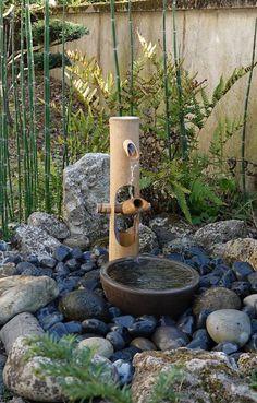 Japanese Garden Backyard, Small Japanese Garden, Japan Garden, Japanese Garden Design, Ponds Backyard, Bamboo Water Fountain, Cactus E Suculentas, Garden Landscape Design, Dream Garden