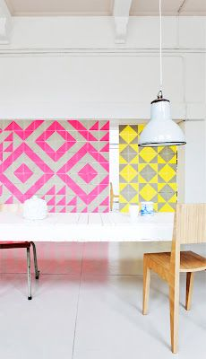 Gorgeous tile is like art underneath your feet. From retro to ethnic, new wave & modern - check out the 10 awesome tile work above. Home Interior, Interior And Exterior, Studio Interior, Bathroom Interior, Ideas Baños, Desk Ideas, Office Ideas, Geometric Tiles, Geometric Patterns