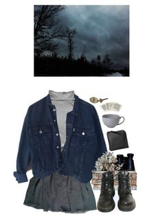 """pouring"" by paper-freckles ❤ liked on Polyvore featuring My Mum Made It, American Apparel, ESPRIT, Juliska, Xenab Lone and Dr. Martens"