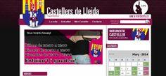 castellersdellida.cat realizada con Multigestor en 2012 Desktop Screenshot