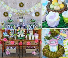 Easter Dessert Buffet + Party! FREE Printables! - Kara's Party Ideas - The Place for All Things Party