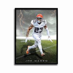 Cleveland Browns Joe Haden Storm 24x18 Football Poster