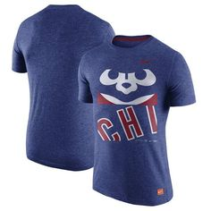Chicago Cubs Nike Cooperstown Collection Logo Tri-Blend T-Shirt - Heathered Royal - $34.99