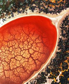 Red Pond - Soda Lake  This was taken from the Luscombe during the same flight with Awfulsara: --- www.flickr.com/photos/awfulsara/6711163/in/set-167479/ ---   The red color is the result of a Dunaliella Salina algal bloom.