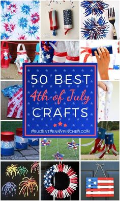 50 Best 4th of July Crafts #4thofjuly #memorialday #patriotic #crafts #diy #4thofjulycrafts #diycrafts #4thofjulydecor