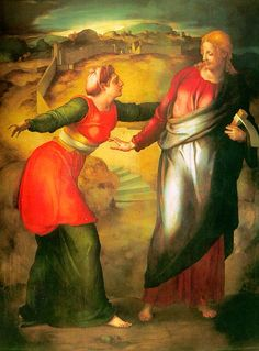 File:Pontormo, noli me tangere (after michelangelo), 1532 ca. Noli Me Tangere, High Renaissance, Renaissance Artists, Michelangelo, Andrea Mantegna, Religious Pictures, Mary Magdalene, Italian Painters, Art Database