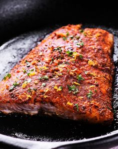 Easy Roasted Cajun Salmon is nutritious and tasty! Topped with a yummy Creole seasoning mixture, lemon zest and Paprika, this amazing salmon recipe is low in calories and carbs, healthy and delicious and you can have this simple oven roasted dinner on the table in less than 20 minutes!