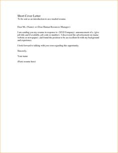 23 Simple Covering Letter Example Cover Letter Resume Simple