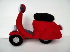 Crochet Pattern - SCOOTER - toys - in PDF  (00462)