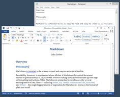 Writage is a small but powerful plugin for Microsoft Office. It enables editing of Markdown-formatted document in the familiar and comfortable interface of Microsoft Word.