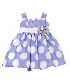 Rare Editions Newborn 3M-9M 2-Piece Pleated Bodice Dot Print Shantung Dress  Price:$37.80