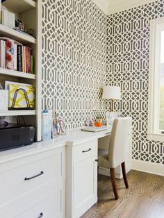 Amazing N. Akin   Intown Traditional Home Office Trellis Wallpaper, Fabric Wallpaper,  Wallpaper Ideas