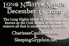 Full Moon Tip - December's Long Nights Moon – Charissa's Cauldron