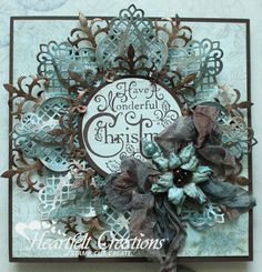 Heartfelt Creations exists to dynamically inspire, uplift, and add value to papercrafters. We do this with a unique line of coordinating Papercrafting & Scrapbooking products. Christmas Paper, Handmade Christmas, Christmas Crafts, Merry Christmas, Xmas Cards, Holiday Cards, Winter Karten, Heartfelt Creations Cards, Snowflake Cards