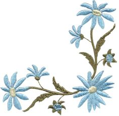 Daisy Corner 3 machine embroidery design.