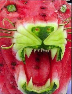 Wassermelone Löwe