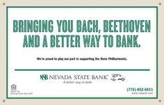 Nevada State Bank - Reno Philharmonic Program Ad