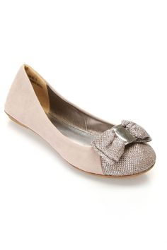 Bamboo Sami 90 Ballet Flats In Nude
