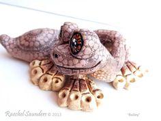 Clay Gecko Ceramic animal sculpture BAILEY 2013 by RaechelSaunders, $75.00