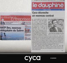 L'agence de publicité CYCA dans la presse ce matin // #cycanow #cyca #publicité #communication #agence #advertising
