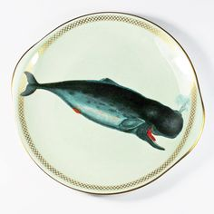 Whale of a Time cake plate by yvonneellen (59.00 USD)