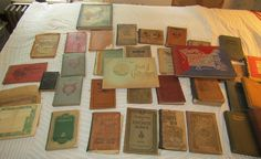 Antique and vintage school books, song and hymn books, military history books and more.