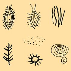 Designs found on Little Indian Rock petroglyph, Susquehanna River just south of PA/MD border