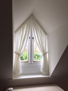 Creative Ideas To Cover My Trapezoid Window Window
