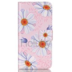 Wallet Style Magnetic  Side Flip Stand TPU + PU Leather Case for Samsung Galaxy S6 Edge Plus - Pink Flower