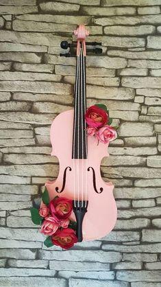 Music Instruments Photography Orchestra Violin 67 Ideas For 2019 Violin Painting, Violin Art, Violin Music, Cello, Gift For Music Lover, Music Lovers, Music Gifts, Shabby Chic Violin, Pink Violin